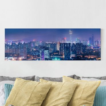 Leinwandbild - Shenzen in China - Panorama Quer