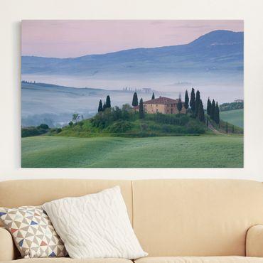 Leinwandbild - Sonnenaufgang in der Toskana - Quer 3:2