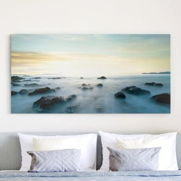 Leinwandbild - Sonnenuntergang über dem Ozean - Quer 2:1