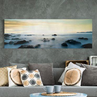 Leinwandbild - Sonnenuntergang über dem Ozean - Panorama Quer