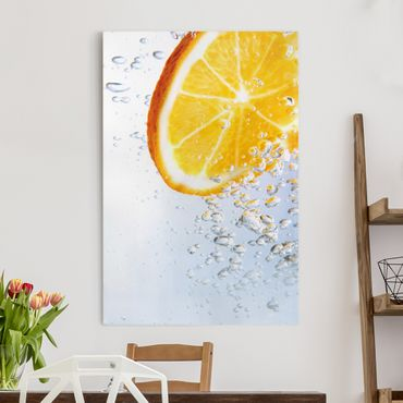 Leinwandbild - Splash Orange - Hoch 2:3