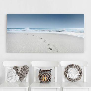 Leinwandbild - Spuren im Sand - Quer 2:1