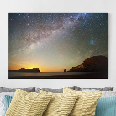Leinwandbild - Sternenhimmel über dem Meer - Quer 3:2