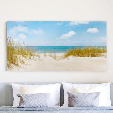 Leinwandbild - Strand an der Nordsee - Quer 2:1