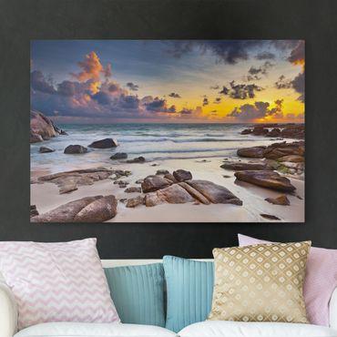 Leinwandbild - Strand Sonnenaufgang in Thailand - Quer 3:2