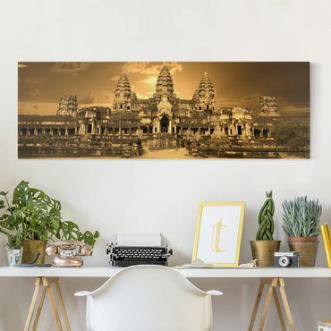 Leinwandbild - Tempel - Panorama Quer