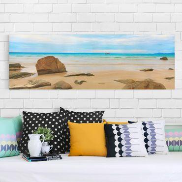 Leinwandbild - The Beach - Panorama Quer