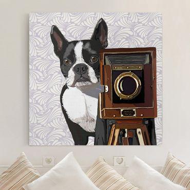 Leinwandbild - Tierfotograf Terrier - Quadrat 1:1