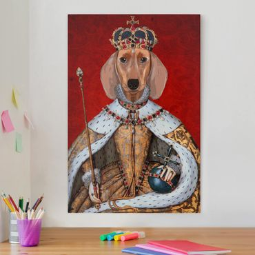 Leinwandbild - Tierportrait - Dackelkönigin - Hochformat 3:2