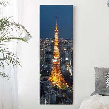 Leinwandbild - Tokyo Tower - Panorama Hoch
