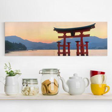 Leinwandbild - Torii am Itsukushima - Panorama Quer