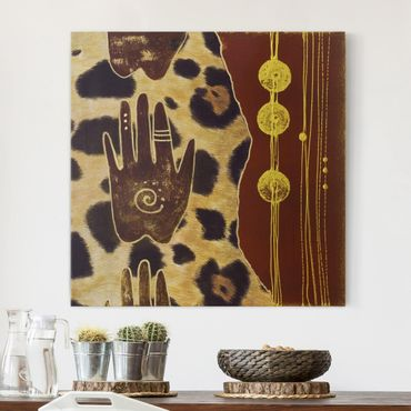 Leinwandbild - Touch of Africa - Quadrat 1:1
