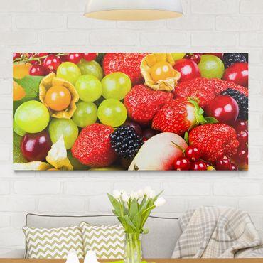 Leinwandbild - Tropical Fruits - Quer 2:1