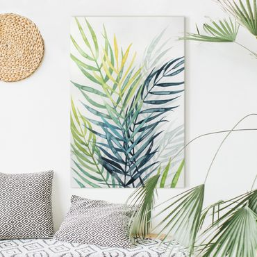 Leinwandbild - Tropisches Blattwerk - Palme - Hochformat 3:2