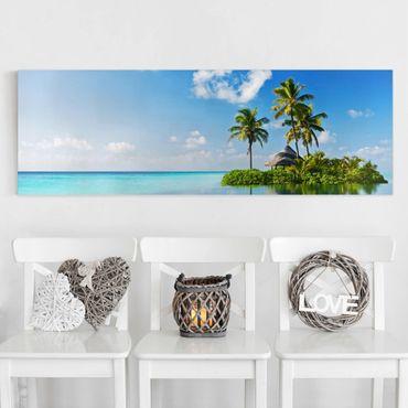 Leinwandbild - Tropisches Paradies - Panorama Quer