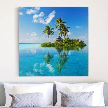 Leinwandbild - Tropisches Paradies - Quadrat 1:1
