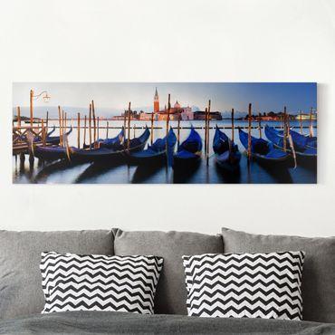 Leinwandbild - Venice Gondolas - Panorama Quer