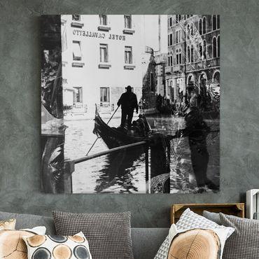 Leinwandbild - Venice Reflections - Quadrat 1:1