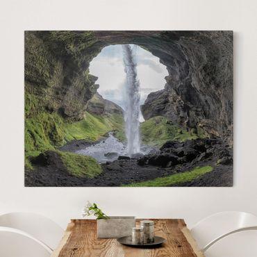 Leinwandbild - Verborgener Wasserfall - Quer 4:3