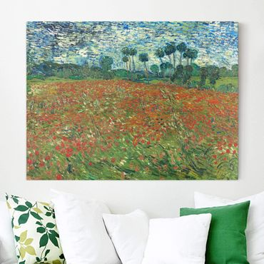 Leinwandbild - Vincent van Gogh - Mohnfeld - Quer 4:3