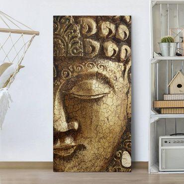 Leinwandbild - Vintage Buddha - Hoch 1:2