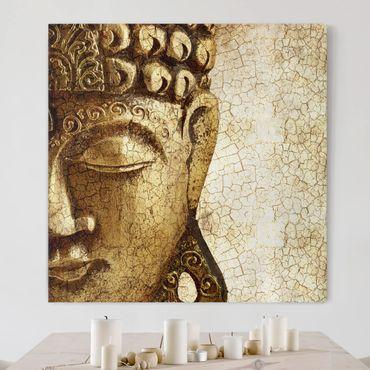 Leinwandbild - Vintage Buddha - Quadrat 1:1