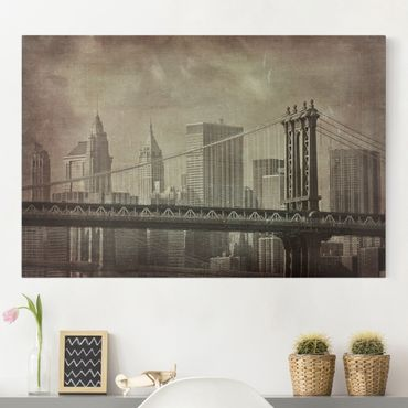 Leinwandbild - Vintage New York City - Quer 3:2