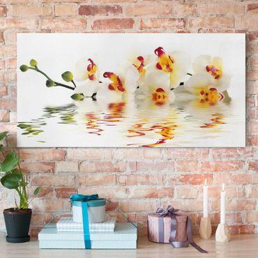 Leinwandbild - Vivid Orchid Waters - Quer 2:1