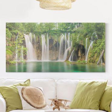 Leinwandbild - Wasserfall Plitvicer Seen - Quer 2:1