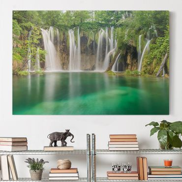 Leinwandbild - Wasserfall Plitvicer Seen - Quer 3:2