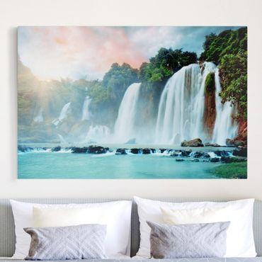 Leinwandbild - Wasserfallpanorama - Quer 3:2