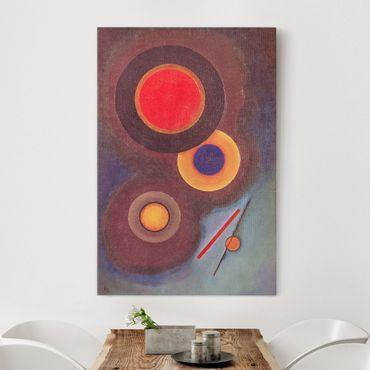 Leinwandbild - Wassily Kandinsky - Komposition mit Kreisen und Linien - Hoch 2:3