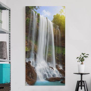 Leinwandbild - Waterfalls - Hoch 1:2