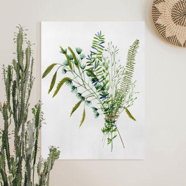 Leinwandbild - Wiesengräser I - Hochformat 4:3