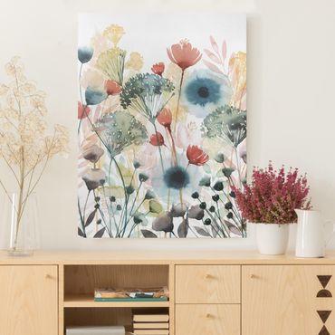 Leinwandbild - Wildblumen im Sommer I - Hochformat 4:3