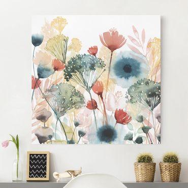 Leinwandbild - Wildblumen im Sommer I - Quadrat 1:1