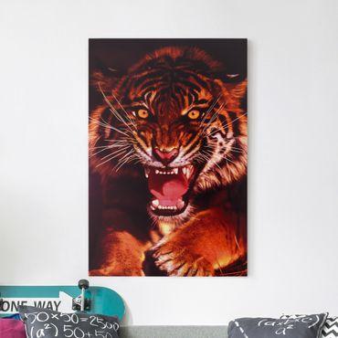 Leinwandbild - Wilder Tiger - Hoch 2:3