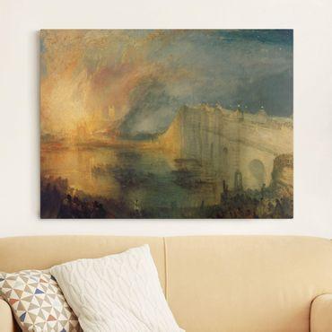 Leinwandbild - William Turner - Der Brand des Parlamentsgebäudes - Quer 4:3