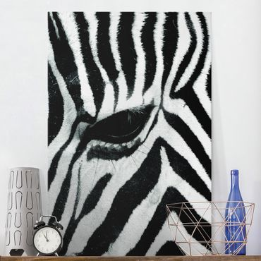 Leinwandbild Schwarz-Weiß - Zebra Crossing No.3 - Hoch 2:3