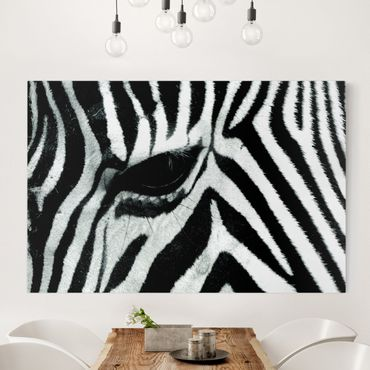 Leinwandbild Schwarz-Weiß - Zebra Crossing - Quer 3:2