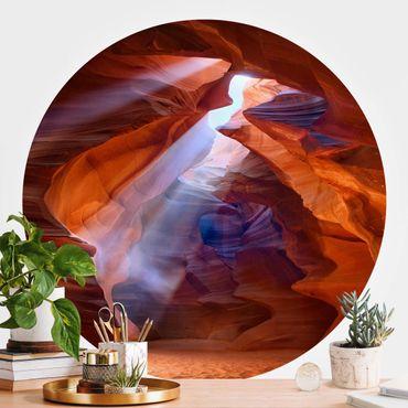 Runde Tapete selbstklebend - Lichtspiel im Antelope Canyon