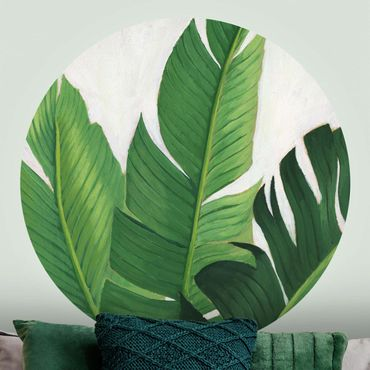 Runde Tapete selbstklebend - Lieblingspflanzen - Banane