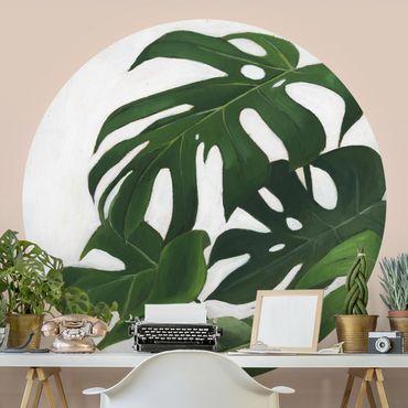 Runde Tapete selbstklebend - Lieblingspflanzen - Monstera