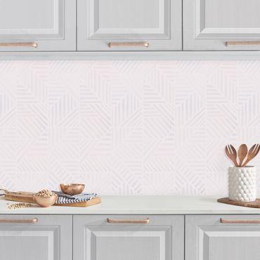 Küchenrückwand - Linienmuster Verlauf in Rosa