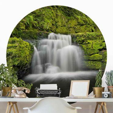 Runde Tapete selbstklebend - Lower McLean Falls in Neuseeland