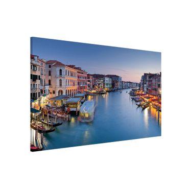 Magnettafel - Abendstimmung auf Canal Grande in Venedig - Memoboard Panorama Querformat