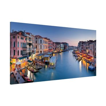 Magnettafel - Abendstimmung Canal Grande - Memoboard Panorama Quer