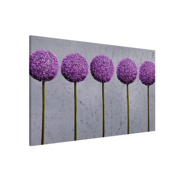 Magnettafel - Allium Kugel-Blüten - Memoboard Quer