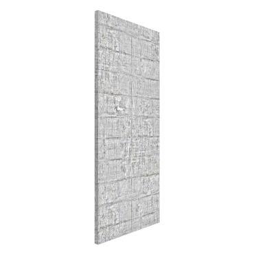 Magnettafel - Alte Ziegel mit Betonoptik - Memoboard Panorama Hoch