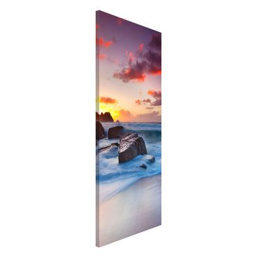 Magnettafel - Am Meer in Cornwall - Memoboard Panorama Hoch